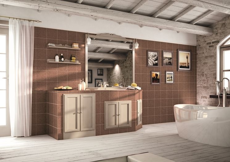 colonna sospesa bagno country : Bagni Country Muratura : MOBILE COLONNA SOSPESA BAGNO IN LEGNO ...