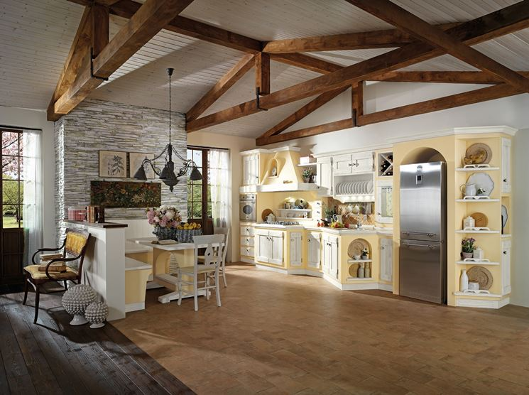 Cucina in muratura country cucine country for Piani di casa in stile country ranch