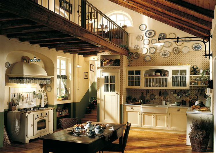 cucina country chic Old England di Marchi