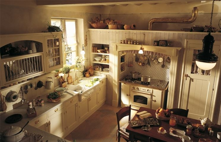 cucina in stile country inglese Old England di Marchi