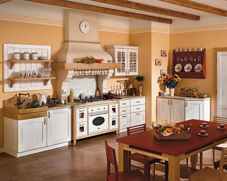 cucine rustiche country - cucine country - Cucine Country Bianche