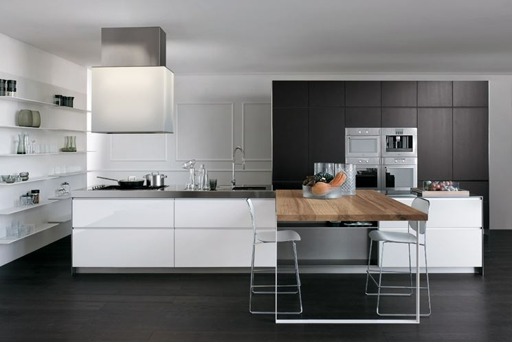 Super Cucine Lineari Moderne. Perfect Cucina Easy Lineare L Cm With  LV42