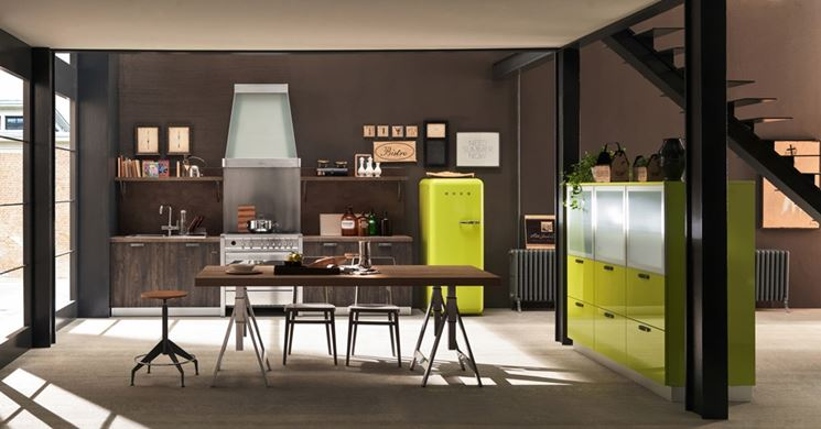 Cucina open space Ice industrial edition di Febal