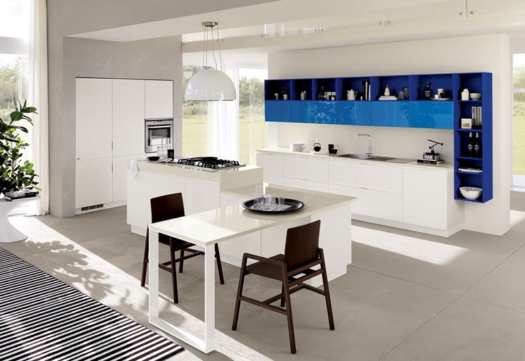 Cucina open space cucine moderne for Case piccole moderne