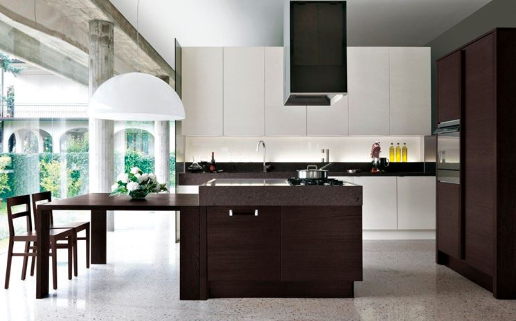 Cucine con isola centrale cucine moderne for Cucine con isola moderne