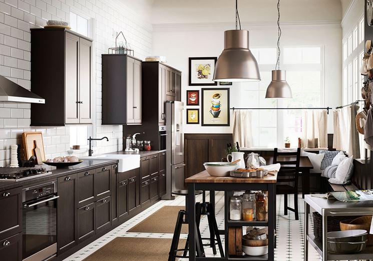 Cucina isola Ikea Laxarby