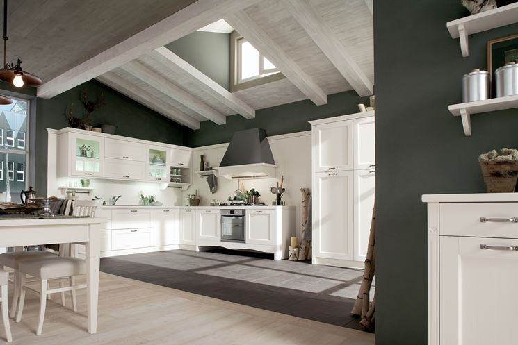 Immagini cucine country cucine moderne for Cucine country bianche
