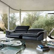 Divano in pelle Roche Bobois, Cinetique