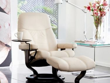 poltrona stressless in pelle color panna