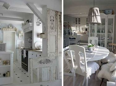 Shabby chic living room inspiration from the web