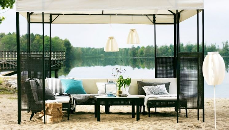 ikea gazebo pratici ed economici gazebo. Black Bedroom Furniture Sets. Home Design Ideas