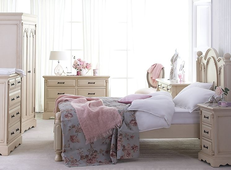 Romantica e raffinata:la camera da letto country chic
